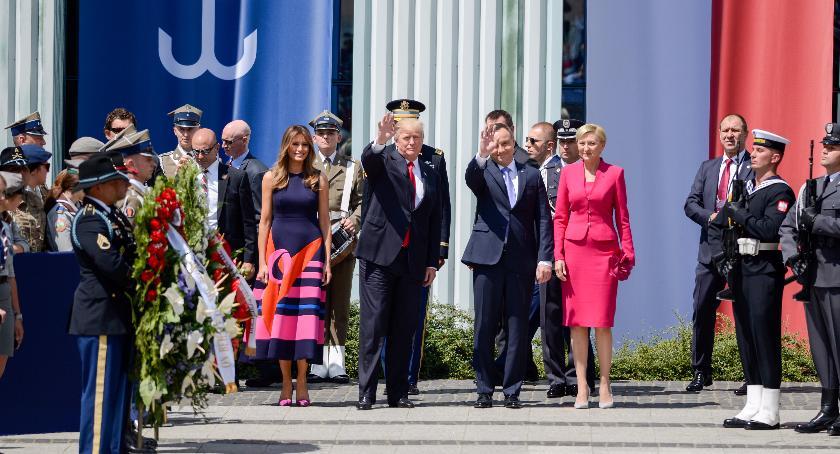 Polityka, mówił Donald Trump podczas wystąpienia Krasińskich - zdjęcie, fotografia
