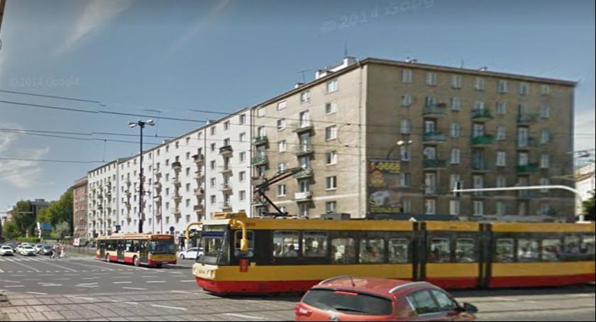 Wypadki, Zablokowane skrzyżowanie Wawelskiej Grójecką Zderzyły tramwaj samochody - zdjęcie, fotografia
