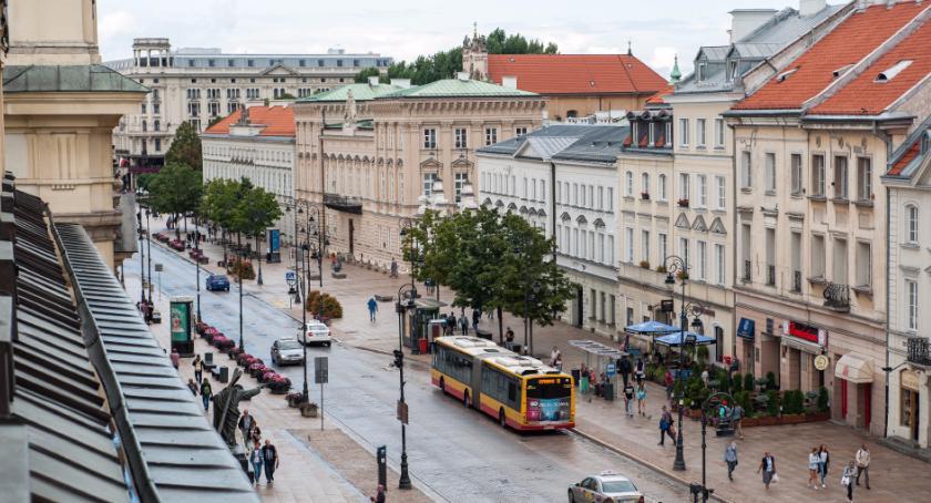 Autobusy, Zmiany komunikacji Krakowskim Przedmieściu Nowym Świecie - zdjęcie, fotografia