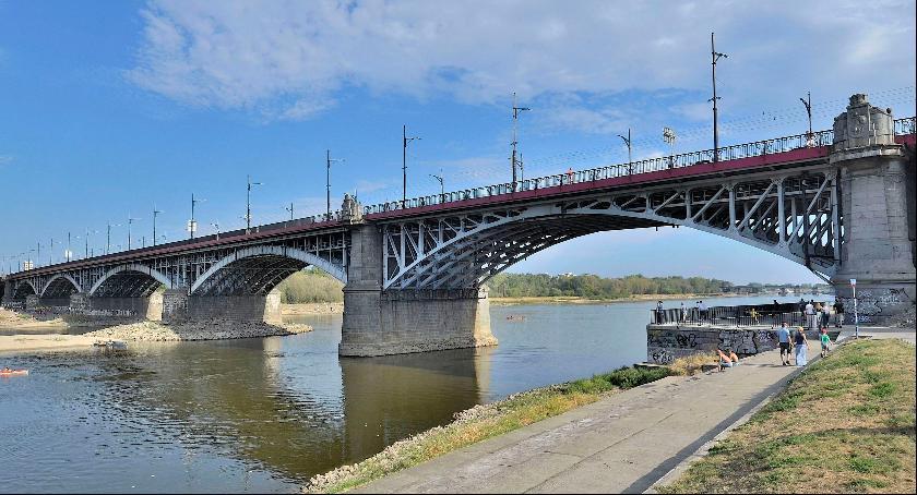 Wypadki, Zablokowany prawy ruchu moście Poniatowskiego kierunku Pragi - zdjęcie, fotografia