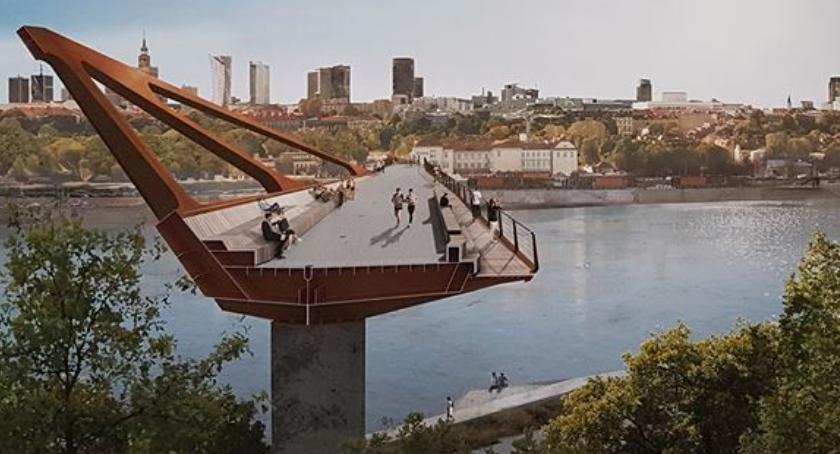 Inwestycje, Pierwszy warszawski pieszo rowerowy będzie wyglądał - zdjęcie, fotografia