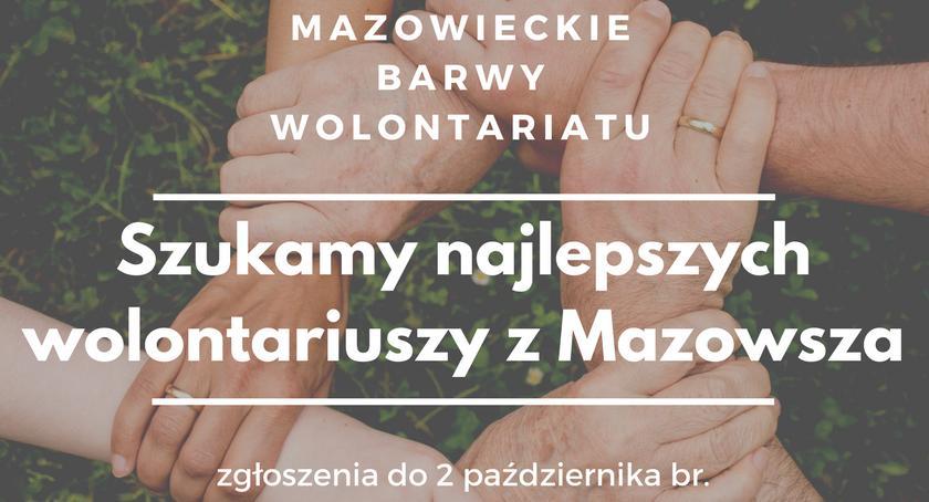 Konkurs , Mazowieckie Barwy Wolontariatu doceńmy społeczników niosących pomoc - zdjęcie, fotografia