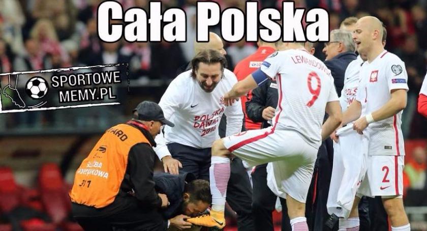 Piłka nożna, Polska wygrywa Czarnogórą jedzie Mistrzostwa Świata [MEMY] - zdjęcie, fotografia