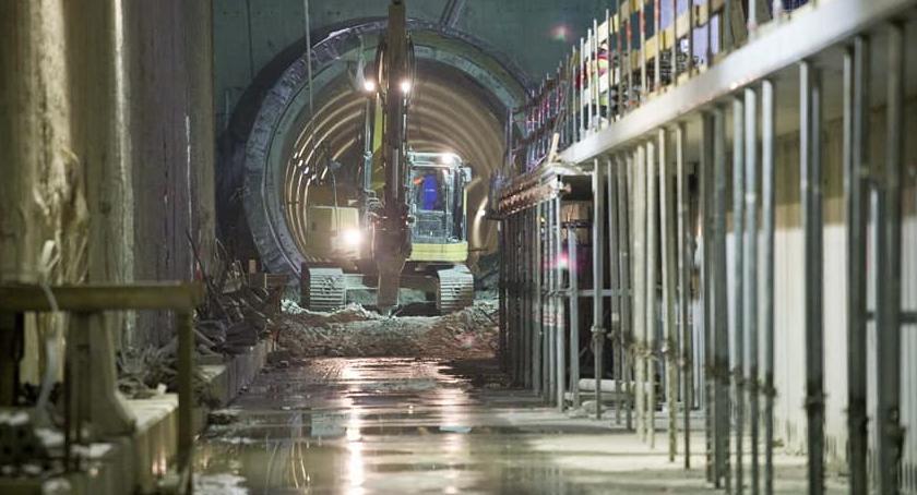Metro, wizytą budowie metra Stacja Trocka peron [ZDJECIA] - zdjęcie, fotografia