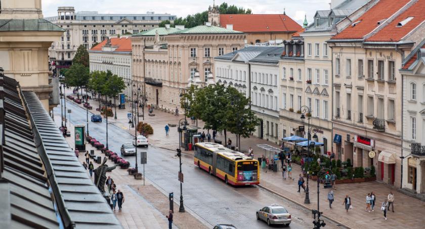 Transport publiczny - komunikacja, Zamknięte Krakowskie Przedmieście - zdjęcie, fotografia
