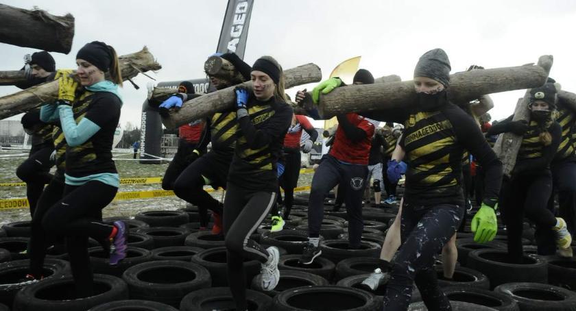 Biegi - maratony, Zimowy Runmageddon Warszawa [ZDJĘCIA] - zdjęcie, fotografia