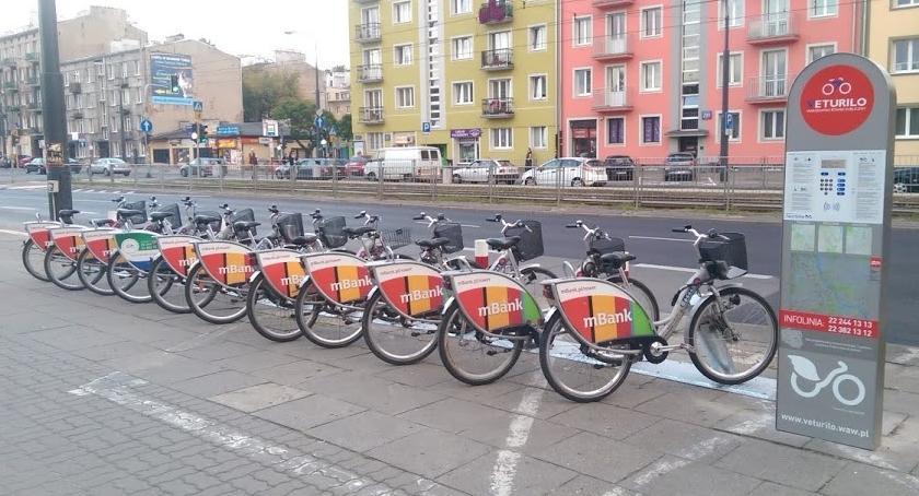 Rower, marca nowych stacji Veturilo Warszawie - zdjęcie, fotografia