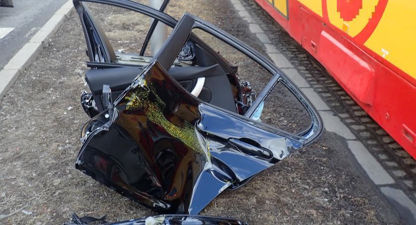 Wypadki, kontra tramwaj Lubelskiej [ZDJĘCIA] - zdjęcie, fotografia