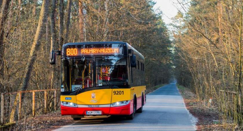 Transport publiczny - komunikacja, linia autobusowa Młocin Palmir - zdjęcie, fotografia