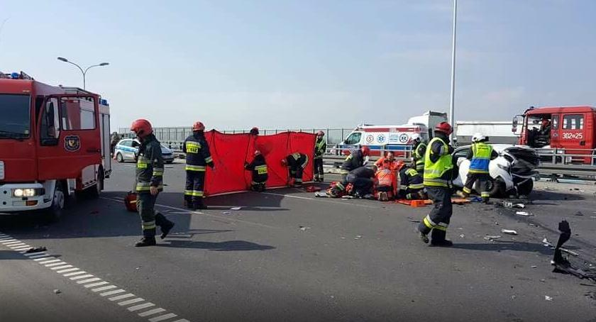 Wypadki, Tragiczny wypadek Trasa stronę centrum zablokowana! - zdjęcie, fotografia
