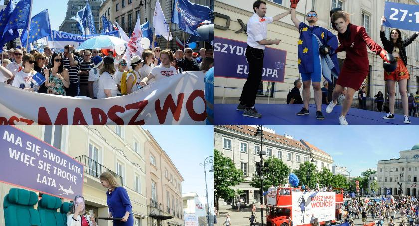 Protesty i manifestacje, Marsz Wolności przeszedł przez Warszawę [ZDJĘCIA] - zdjęcie, fotografia