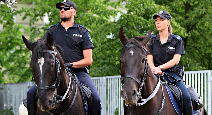 Bezpieczeństwo, Policja konna [ZDJĘCIA] - zdjęcie, fotografia