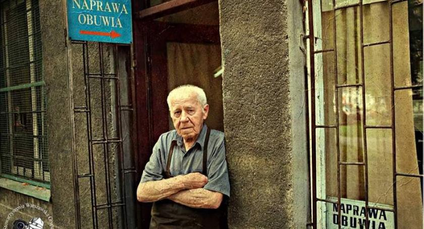 Historia Warszawy, Unikatowe miejsce Warszawie zakład szewski centrum właściciel - zdjęcie, fotografia