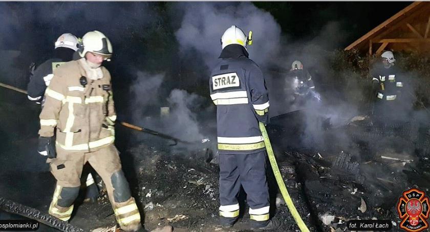 Pożary, Śmierć płomieniach [ZDJĘCIA straży] - zdjęcie, fotografia
