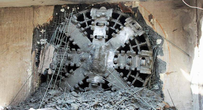 Metro, Selfi Marią Krystyną Dzień otwarty budowie metra - zdjęcie, fotografia