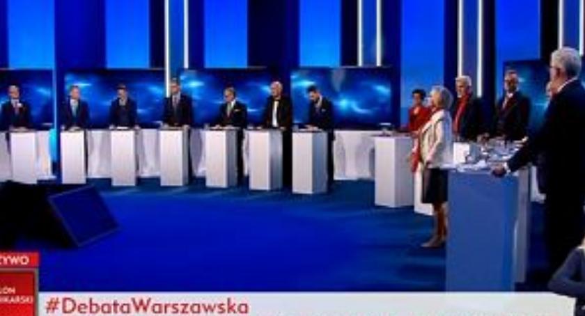 Wybory samorządowe 2018, Warszawę pokazali kandydaci Relacja (wybiórcza) debaty prezydenckiej - zdjęcie, fotografia