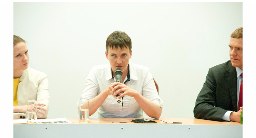 Polityka, Spotkanie Nadią Sawczenko Akademii Vistula - zdjęcie, fotografia