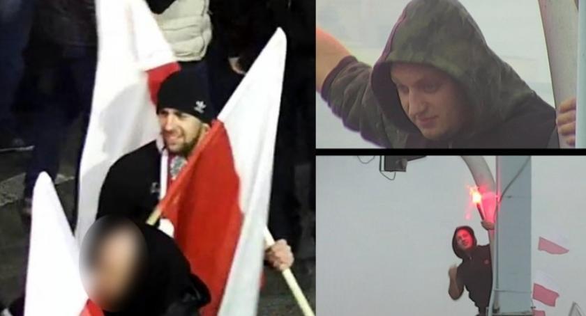 Poszukiwani, Policja poszukuje osób które odpalały Marszu Niepodległości [ZDJĘCIA] - zdjęcie, fotografia