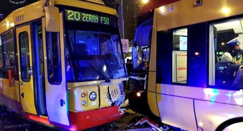 Wypadki, Zderzenie tramwajów ogromne utrudnienia [ZDJĘCIA] - zdjęcie, fotografia