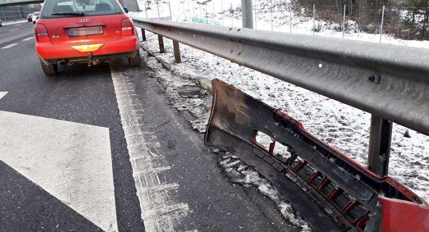 Wypadki, Znów niedostosowanie prędkości warunków drodze [ZDJĘCIA] - zdjęcie, fotografia