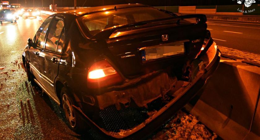 Wypadki, Zderzenie ciężarówki dwóch osobowych [ZDJĘCIA] - zdjęcie, fotografia