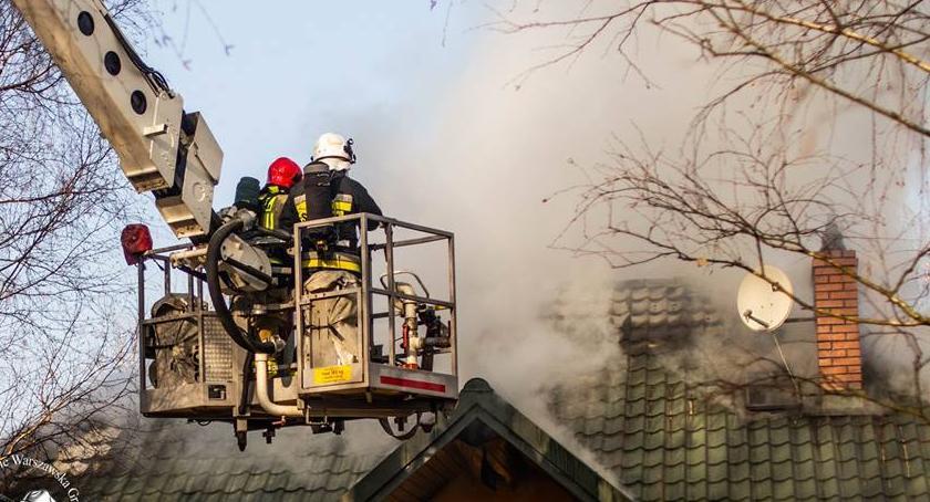 Pożary, Pożar jednorodzinnego [ZDJĘCIA] - zdjęcie, fotografia