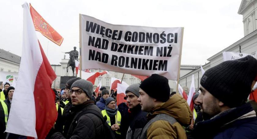Protesty i manifestacje, Protest rolników Warszawie [ZDJĘCIA] - zdjęcie, fotografia