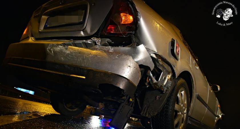 Wypadki, Karambol trasa wieczorem sparaliżowana [ZDJĘCIA] - zdjęcie, fotografia