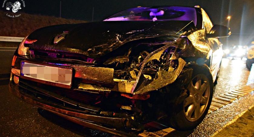 Wypadki, Zderzenie czterech samochodów [ZDJĘCIA] - zdjęcie, fotografia