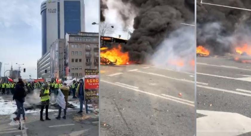 Protesty i manifestacje, Uwaga! Bardzo duże utrudnienia placu Zawiszy! - zdjęcie, fotografia