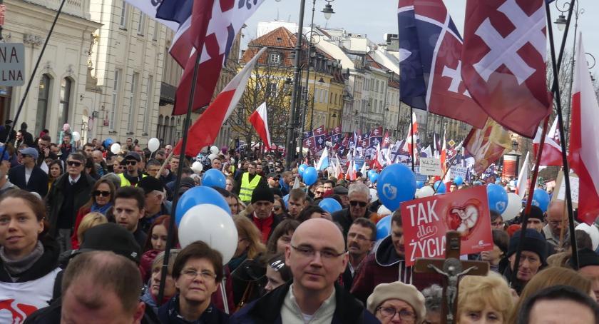 Protesty i manifestacje, Narodowy Marsz Życia - zdjęcie, fotografia