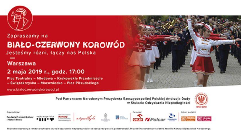 Imprezy, Wydarzenia, Biało Czerwony Korowód przejdzie dzisiaj ulicami Warszawy - zdjęcie, fotografia
