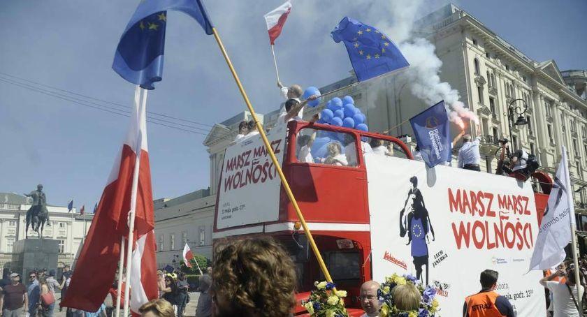 Protesty i manifestacje, Marsz Polska Europie Zgłoszono zgromadzenie osób - zdjęcie, fotografia