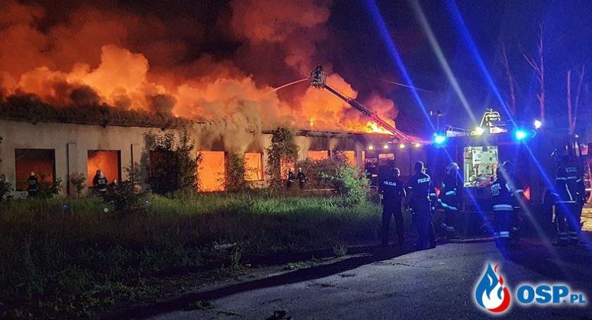 Pożary, Ogromny pożar Modlinie Spłonęła hurtowni - zdjęcie, fotografia