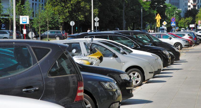Drogi, Strefa płatnego parkowania Odolanach - zdjęcie, fotografia