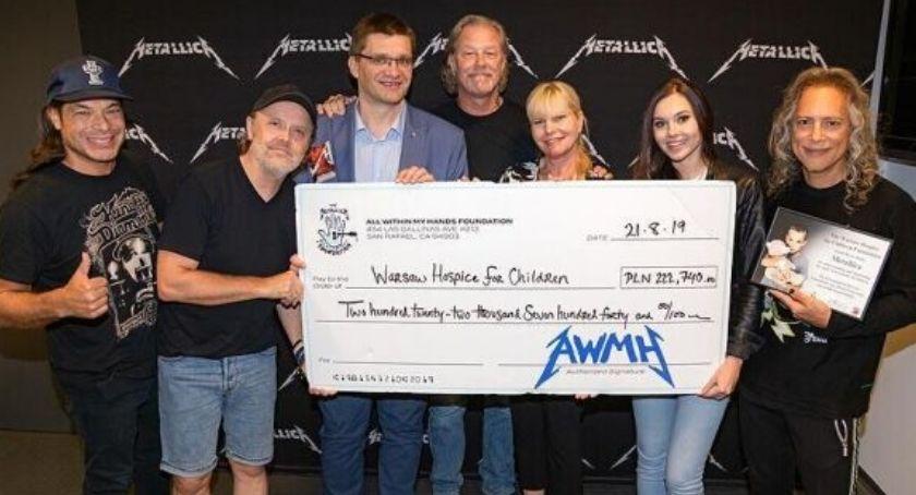 NEWS, Metallica przekazała pieniądze rzecz hospicjum stolicy - zdjęcie, fotografia