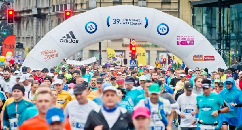 Biegi - maratony, Maraton Warszawski września - zdjęcie, fotografia