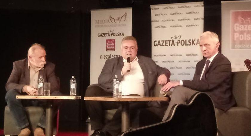 Polityka, Spotkanie Piotrem Naimskim Adamem Borowskim - zdjęcie, fotografia