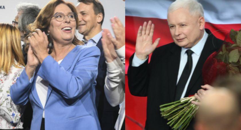 NEWS, Jarosław Kaczyński poniósł klęskę wyborczą starciu Małgorzatą Kidawa Błońską - zdjęcie, fotografia