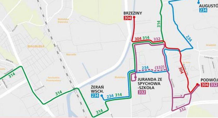 Transport publiczny - komunikacja, Autobusy Białołęce zmieniąswoje trasy - zdjęcie, fotografia
