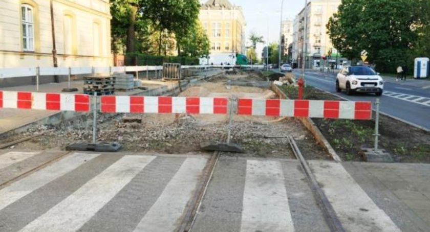 Remonty, Utrudnienia ruchu okolicy Jagiellońskiej - zdjęcie, fotografia