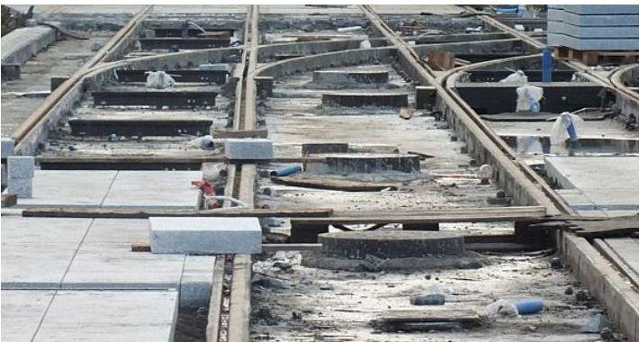 Tramwaje, Torowisko Obozowej remontu dopiero - zdjęcie, fotografia