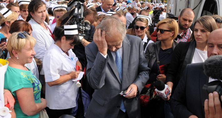 Polityka, Protest pielęgniarek Warszawie {FOTO} - zdjęcie, fotografia