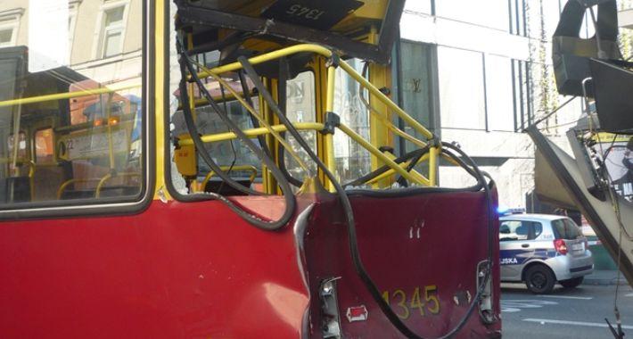 Tramwaje, Straż Miejska opublikowała zdjęcia wypadku Alejach Jerozolimskich - zdjęcie, fotografia