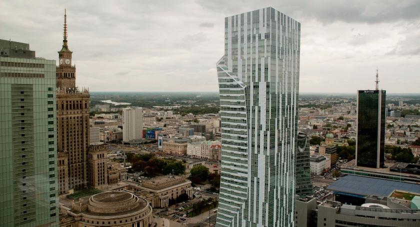 NEWS, Panorama Warszawy wieżowca Rondo - zdjęcie, fotografia