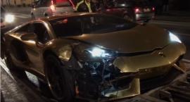 Złote Lamborghini Aventador największą atrakcją Nowego Światu [wideo]
