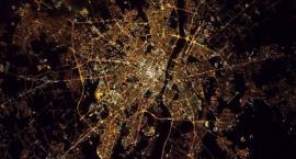 Warszawa widziana z kosmosu
