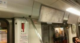 Pociągi metra bez monitorów informacyjnych.