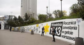Mural na Patelni w rocznicę powstania w getcie warszawskim