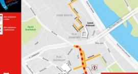 W poniedziałek trudny dzień na drogach w centrum. Będzie przynajmniej 7 zgomadzeń publicznych
